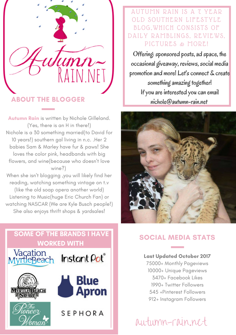 White with Pink Borders Blogger Press Kit