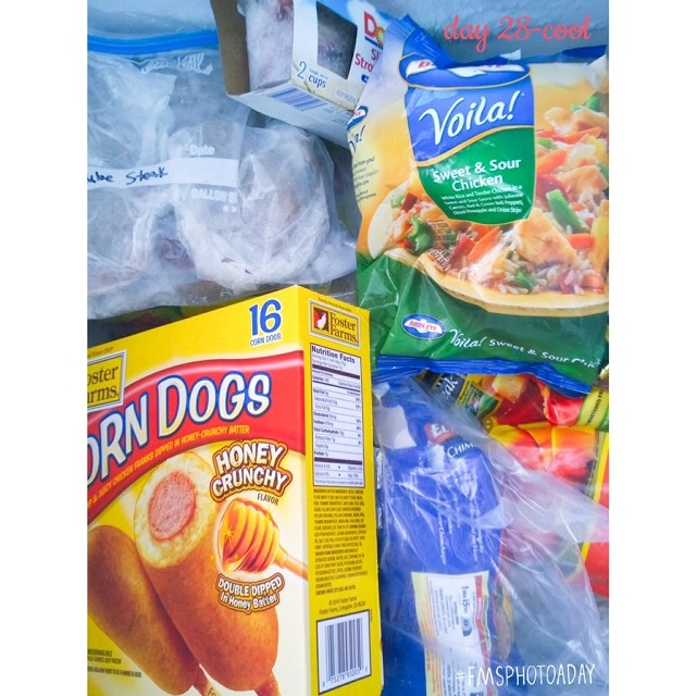 28. cool #fmsphotoaday #littlemomentsapp nowhere cooler than in the deep freezer :)