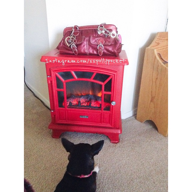 11. Something red #fmsphotoaday #littlemomentsapp couldnt decide between my purse and the fireplace