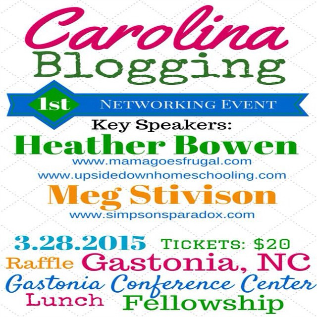 I am really looking forward to going to this event! Great price and awesome opp ..with free headshots and swag bags to boot! I am going to be helping with handing out badges and directing people on where to go and what not :) #CarolinaBlogging15 I will be writing a more in depth post on the blog soonest!